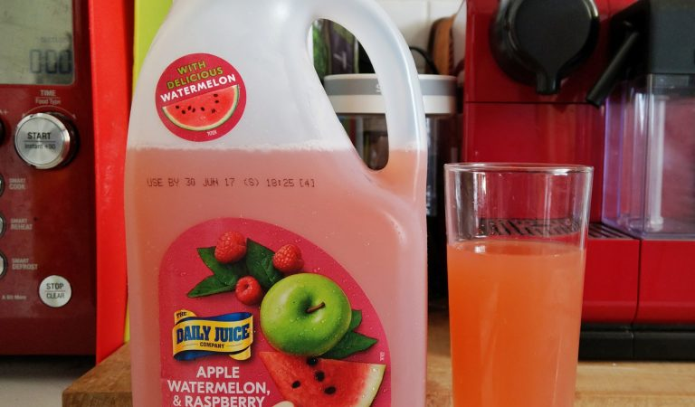 Apple, Watermelon, and Raspberry Juice